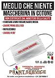TIPOGRAFIA CASTRIGNANÒ 5 MASCHERINE in Tessuto di Cotone 100% Lavabili E RIUTILIZZABILI