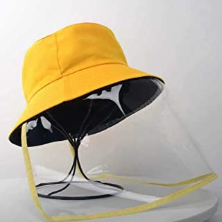 Fisherman Hat with Protective Clear Saliva-Proof Dust-Proof Sun Visor Cap