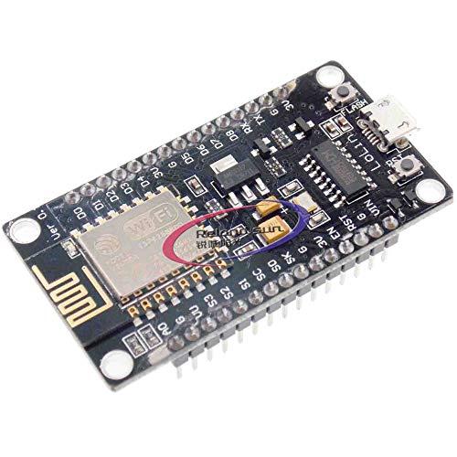 Reland Sun NodeMCU WiFi Lua Lolin V3 ESP8266 ESP-12F Internet Development Board Module Flash Memory Chip Series Port Adapter with CH340