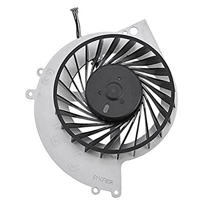 Richer-R Cooling Fan for PS4,ABS Portable Replacement Part Internal CPU Cooling Fan with Metal Base Plate Quite Cooler for PS4-1000 Game Console