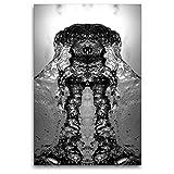 CALVENDO Premium Textil-Leinwand 80 x 120 cm Hoch-Format Hund Harvey, Leinwanddruck von NUPHO Nihat Uysal Photography