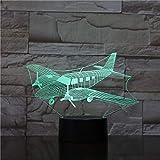 Control Remoto táctil del avión luz Nocturna estéreo acrílico Cambio de Color lámpara de Dormitorio niño Regalo de cumpleaños
