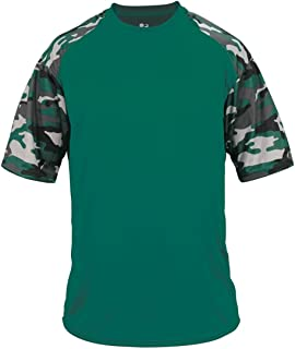 DriFit Camo Sleeve Custom or Blank Jersey Uniform Shirt Top (Youth/Adult, 18 Colors)