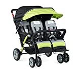 Foundations The Quad Sport 4-Passenger Stroller, Lime