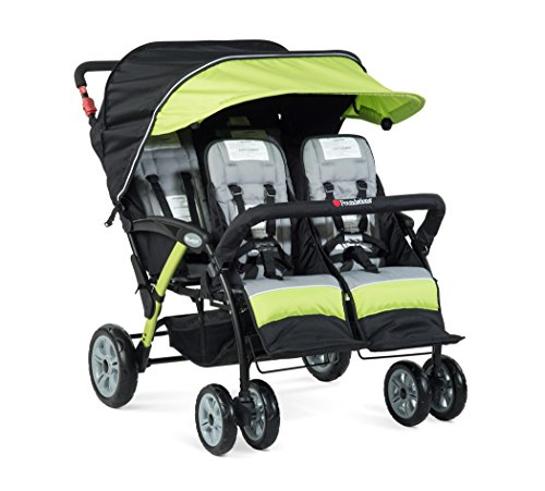 2020 Foundations The Quad Sport 4-Passenger Stroller, Lime