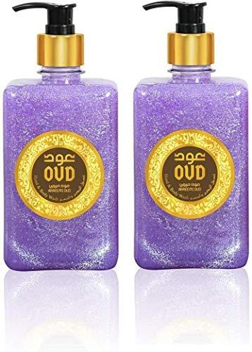 Lot de 2 Savons et Gels Douche Parfumerie 500ml Très Haute Qualité Arabe Orientale Unisex (Hareemi Oud)