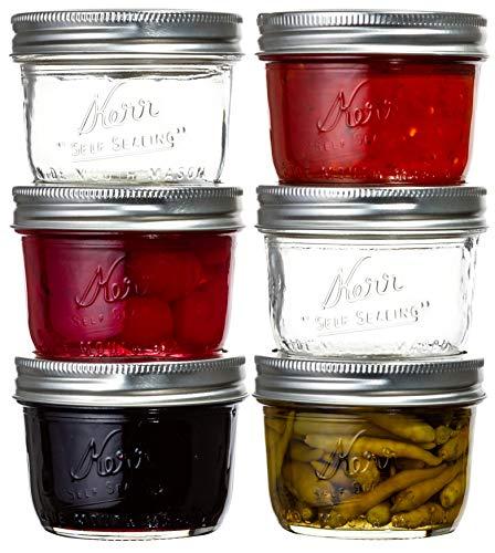 Kerr 8-Oz Wide Mouth Glass Mason Jars (6-Pack)