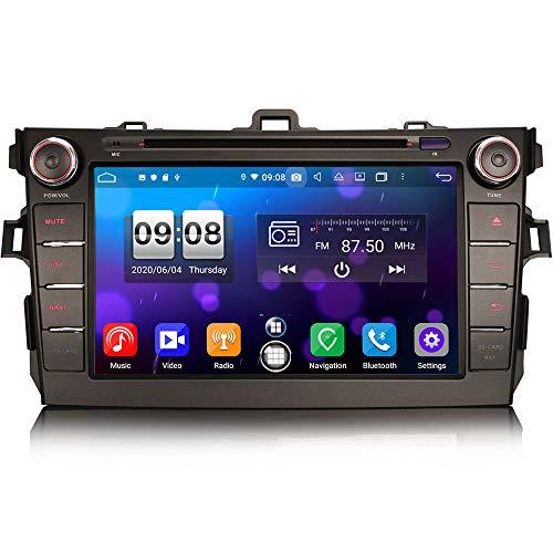 ERISIN 8 Pulgadas Android 10.0 Estéreo de Automóvil Reproductor Multimedia para Toyota AURIS Corolla ALTIS Soporte Carplay Android Auto GPS Sat Nav DSP Bluetooth WiFi Dab + TPMS 4GB RAM + 64GB ROM