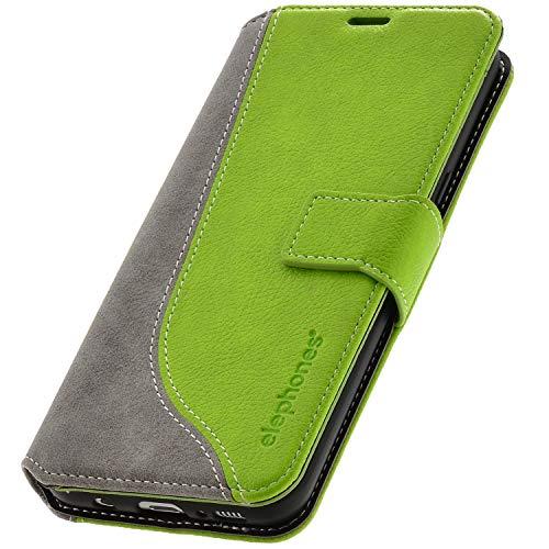 elephones® Handyhülle für Samsung Galaxy S9 Plus Hülle - Kompatibel mit Galaxy S9+ Schutzhülle Handy-Tasche Flip Case Cover Grün