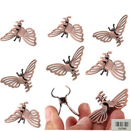 Cuhair Haarspangen in Schmetterlingsform, Vintage-Stil, Metalllegierung, Haarclip, Haarschmuck für Mädchen und Frauen, 100Stück