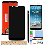 XR MARKET Compatible LG Stylo 4 Screen Replacement, LCD Display Touch Screen Digitizer Assembly Part for LG Q710 Q710AL Q710MS 6.2 Inch,with Tools, Screen Protector(Black NO Frame)