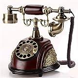JNWEIYU Teléfono con Cable de Marcación Retro Retro teléfono Fijo Vintage European...
