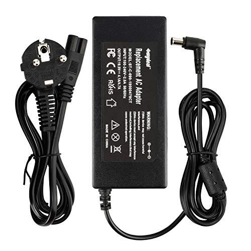 Sunydeal Cargador Adaptador Fuente de Alimentación 90W para Portátil Sony, 19.5V 4.7A, 6.0 * 4.4mm, para Sony Sony VAIO PCG-505, PCG-R505, PCG-C1, PCG-GR, PCG-SR Series