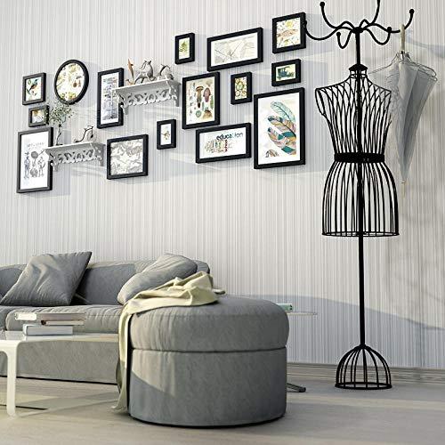 Europese stijl eenvoudige massief houten fotowand creatieve combinatie slaapkamer woonkamer opknoping muur fotolijst fotowand gesneden plank