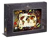 Ulmer Puzzleschmiede - Puzzle Assaggia Il mondoUlmer Puzzleschmiede - Puzzle  - Mappa del Mondo delle spezie Colorate, del Pepe e del Sale - un'originale Fotografia Alimentare