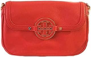 Amanda Leather Mini Crossbody Bag Red
