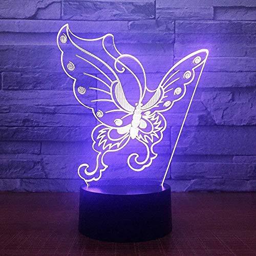 YOUPING USB Visual Creativo Noche Niño Dormir Noche Luz 3D LED Mariposa Modelado Escritorio Lámpara Luces para Niños Regalo Decoración del Hogar