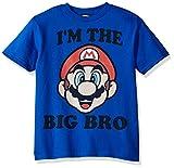Nintendo Big Boys Big Bro Graphic T-shirt, Royal, YXL