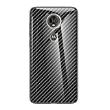 Grandcaser Motorola Moto E5 Plus Étui,Ultra-Mince Advanced Fibre Carbone Texture Gradient Glass Box...