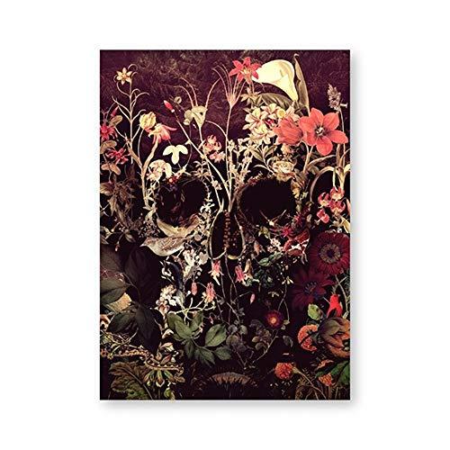 tzxdbh suikerschedel canvas poster en prints wandafbeeldingen woonaccessoires bloemen abstract schedel muurkunst geschenk kunstwerk beschildering & kalligrafie van boven 20x25 cm No Frame Ph5362