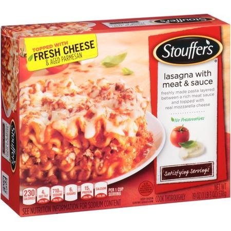 STOUFFERS LASAGNA WITH MEAT & SAUCE SATISFYING SERVINGS...