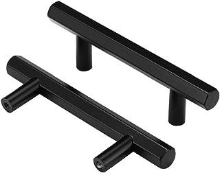 Homdiy Kitchen Cabinet Pulls Black Drawer Pulls - 3 inch Modern Cabinet Door Pulls Stainless Steel Dresser Pulls Drawer Ca...