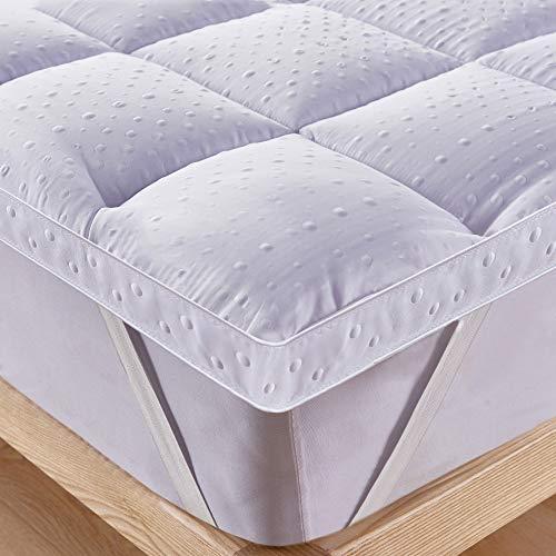 Bedecor Unterbett Matratzen Auflage Soft-Topper, Luxus-3D-Massage Bubbbles Abdeckung 200x200 cm