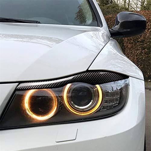 Huwenbin Fibra de Carbono del Coche del Molde de presión de la lámpara de la ceja cosmética for el Parachoques for BMW E90 / E91 2005-2011