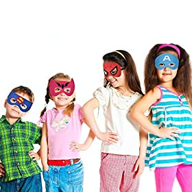 Superhero Masks Party Favors for Kid (33 Packs) Felt and Elastic – Superheroes Birthday Party Masks with 33 Different…