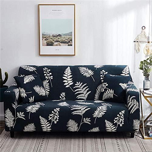 B/H elástico Tejido Protector por sofá Funda,Funda de sofá elástica de algodón para Sala de Estar Funda de sofá Towel-16_145-185cm,Elegante Tejido Funda de sofá