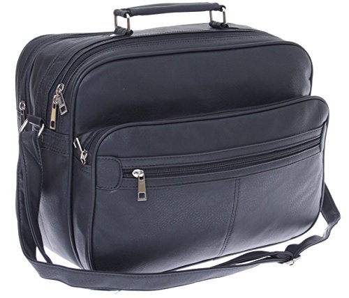 XL Arbeitstasche,Herren Umhängetasche, Schultertasche, Reise-Tasche, Männer Leder Optik, * SONDERPOSTEN * (Querformat)