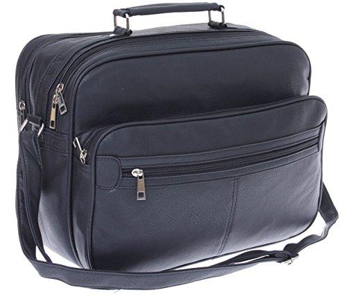 XL Arbeitstasche,Herren Umhängetasche, Schultertasche, Reise-Tasche, Männer Leder Optik