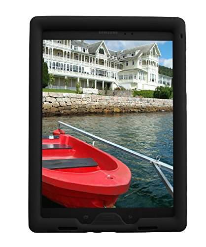 Bobj Rugged Case for Samsung Galaxy Tab A 9.7 inch Tablet, (SM-T550), Tab A Plus 9.7 inch (SM-P550), (Not for Tab A 10, SM-T580) - BobjGear Protective Cover (Bold Black)