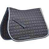 Saxon Coordinate Quilted All Purpose Saddle Pad Grey/Blue/White Cob