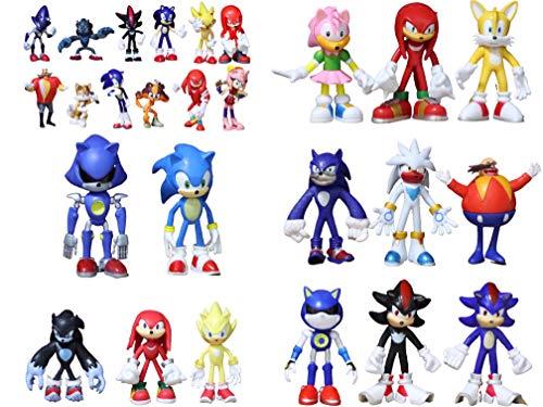 Figura 26 unids/lote Sonic the Hedgehog figuras Sonic Boom Shadow Tails Knuckles personajes muñecas Sonic figuras PVC juguetes de modelos coleccionables