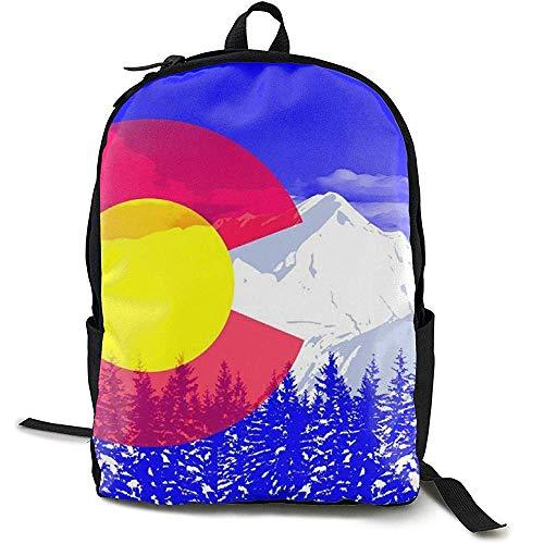 Rugzak, Reizen Rugzak Grote Luiertas - Colorado Vlag Pop Art Royal Blue Rugzak School Rugzak voor Vrouwen & Mannen