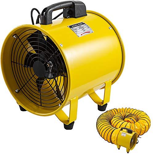 Mophorn Ventilador de Ventilación Portátil 12 Pulgadas con Manguera de Ventilador de 5 Metros Ventilador Utilitario 2500-3900M³/H Perfecto para Áreas Como Fábricas, Lofts y Sótanos