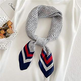 K-ONE Sciarpa di Seta Estiva Fascia per Capelli da Donna Cravatta Morbida Foulard Foulard Sciarpe quadrate Design da Donna...