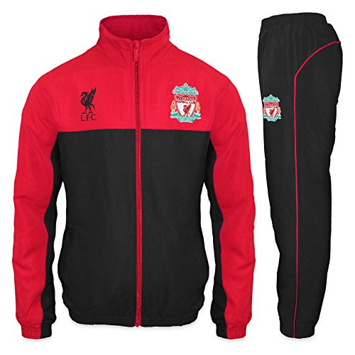 Liverpool FC - Herren Trainingsanzug - Jacke & Hose - Offizielles Merchandise - Schwarz - S