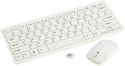 2.4G Ultra teclado sem fio portátil Slim e rato Combo com teclado película protetora para o Windows 7/8 / XP/Vista/Desktop/PC