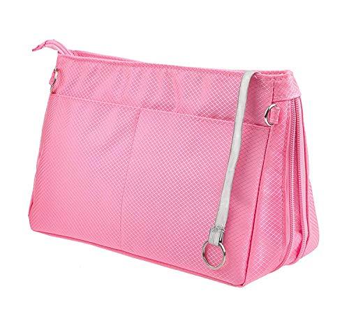 Soyizom Nylon Taschenorganizer Innentaschen Handtaschen Bag in Bag für Speedy Neverfull(Rosa,Groß)