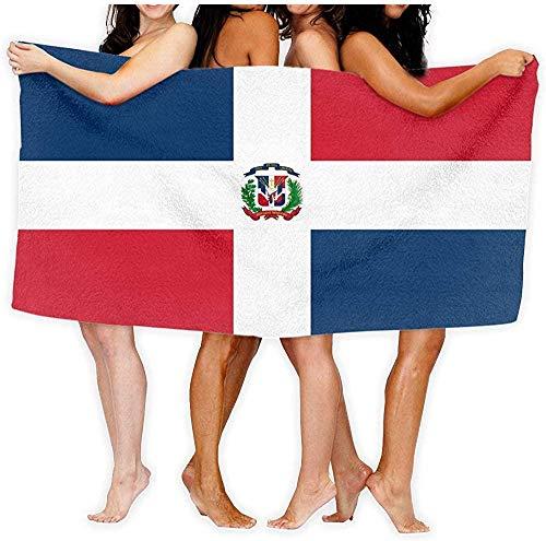 Toalla De Playa Microfibra,Toalla De Viaje De Secado Rápido A Prueba De Arena Toalla De Baño con Bandera De República Dominicana Toalla Suave para Baño Toalla De Playa 80×130cm