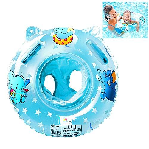 QIN-SUN Flotador con Manija para Bebé 6-36 Mes Elefante (Azul)