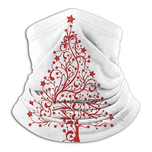 Rcdeey Bufanda de Tubo, Gorro Resistente, árbol de Navidad Rojo Deportes al Aire Libre Calentador de Cuello Diadema BandaBalaclava
