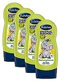 Bübchen Kids Shampoo und Duschgel Dschungelbande, Kinder-Shampoo und -duschgel, pH-hautneutrale Pflege für Kinderhaut, mit frischem Duft, Menge: 4 x 230 ml
