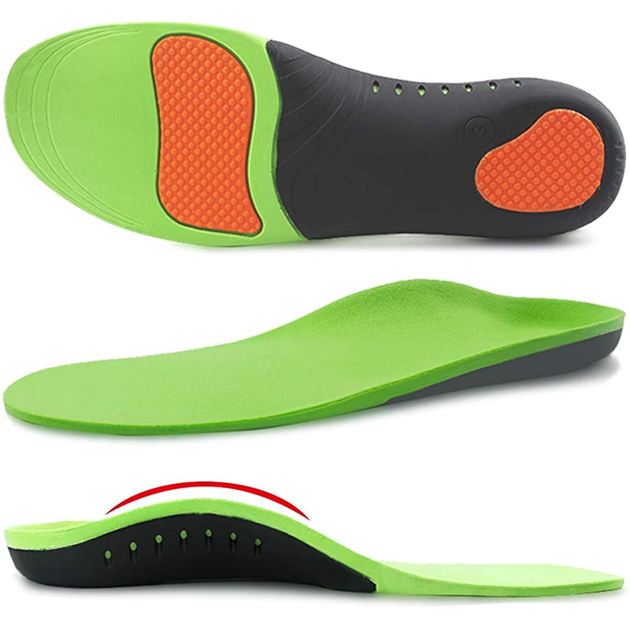 Ailaka High Arch Support Orthotic Shoe Insoles for Men and Women, Shock Absorption Gel Cushion Sports Inserts for Flat Feet, Plantar Fasciitis, Feet Heel Pain Relief
