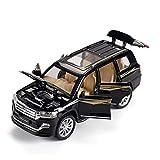 De Molde Fundido 1:24 para Toyota Land Cruiser Escala De Aleacin Modelo De Coche Todoterreno SUV Vehculo Juguetes para Nios Coleccin De Coches Regalos (Color : 2)