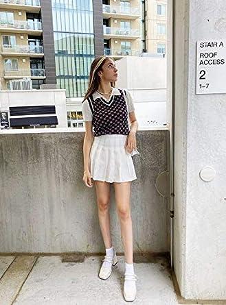 Auriviz Women Mini Pleated High Waisted Skirt Cute Skater Tennis Skirts with Shorts School Girl Uniform
