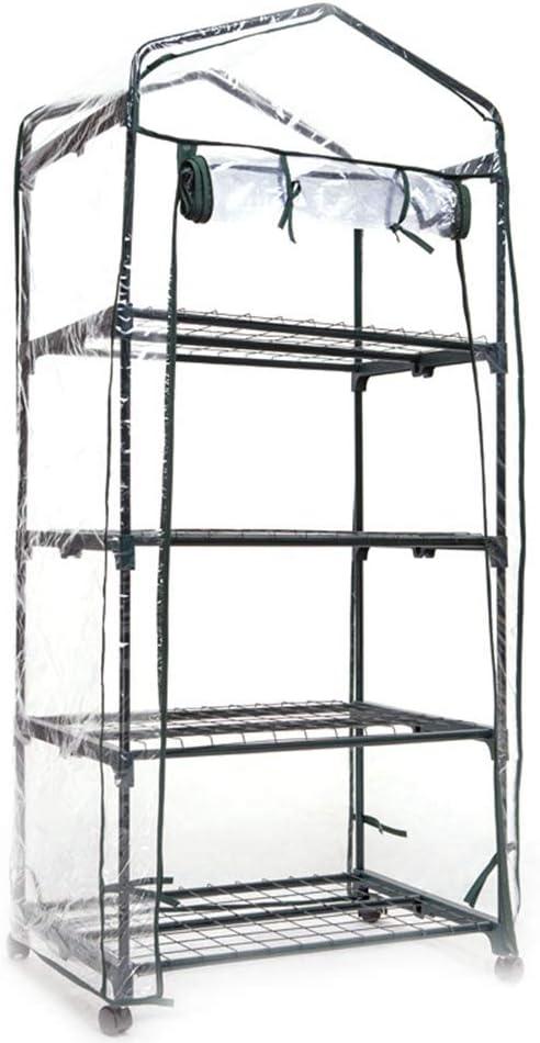 69 x 49 x 92 cm ideal para exteriores e interiores estante port/átil Hetangyuese Mini invernadero para plantas peque/ñas invernadero protector para plantas de jard/ín de PVC