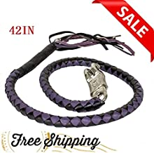 42 in Harley Davidson Get Back Whip Accessories for Motorcycle (GBW10-11, Purple & Black)